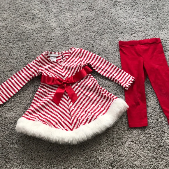 Bonnie Jean Christmas Outfits.Bonnie Jean Candy Cane Christmas Outfit